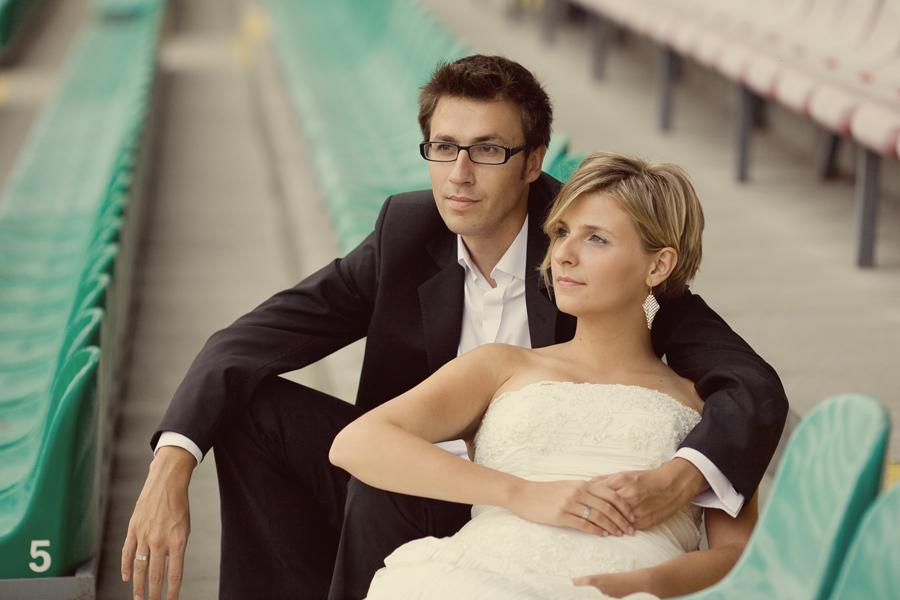 Ania i Marcin, stadion legii